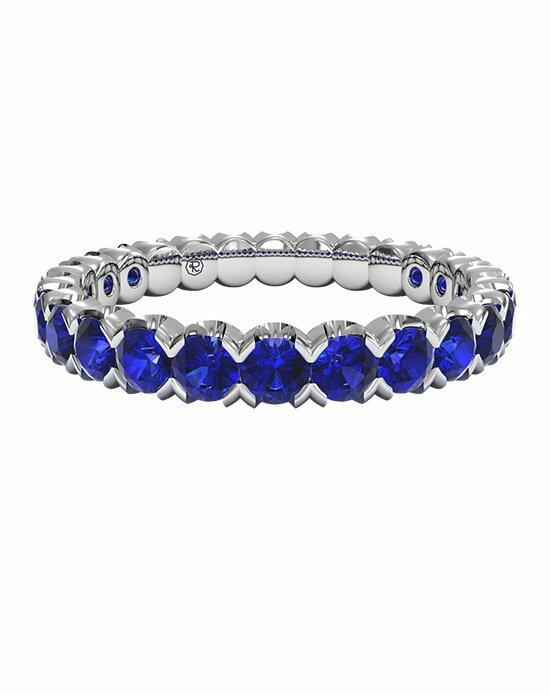 Ritani Classic Blue Sapphire Stackable Band in Palladium Wedding Ring photo