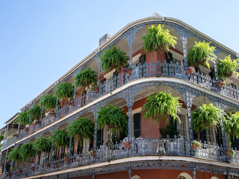 French Quarter building of New Orleans, Louisiana