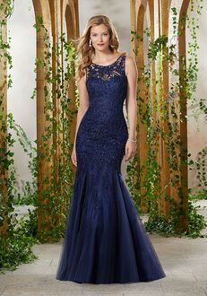 MGNY 71907 Blue,Brown Mother Of The Bride Dress