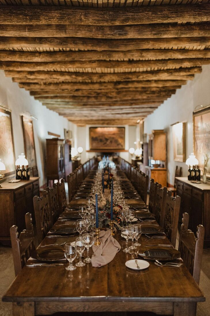 Rustic Reception Venue with Exposed Wood Beams