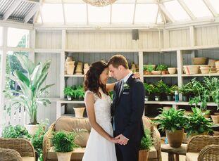 Leslie Gemarino ( 31 and an eighth grade English teacher)and Zachary Schwarz, (31 and a history teacher and soccer coach) drew wedding design inspir