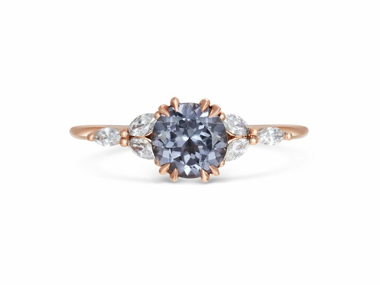 Michelle Oh blue engagement ring