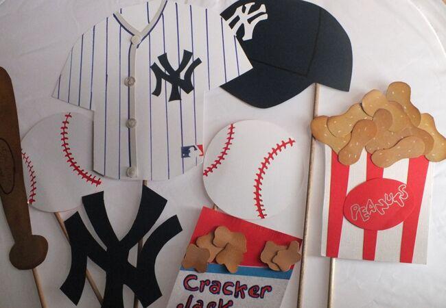 Baseball Photo Booth Props | Etsy | Blog.theknot.com