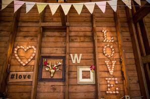 Shabby-Chic Marquee Wedding Reception Decor