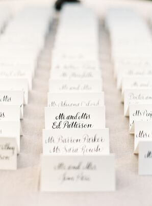 Black and White Name Cards