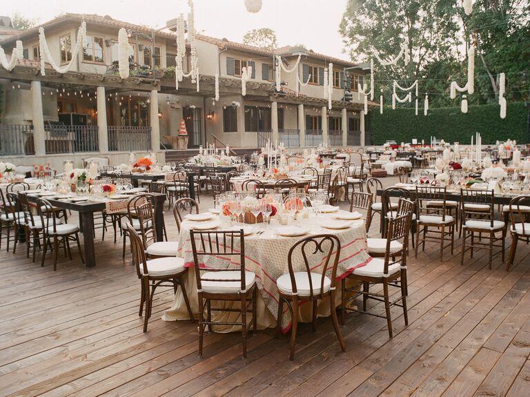 Garland wedding decor