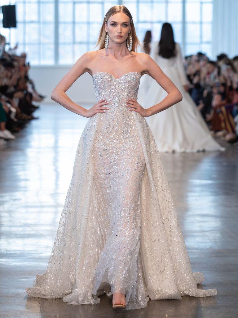 Berta Spring 2020 Bridal Collection sexy glamorous strapless wedding dress
