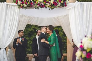 Emerald Green Lace Wedding Dress