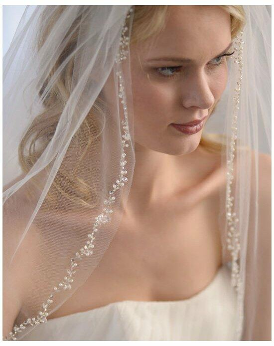 USABride 1-Layer Floral Beaded Veil VB-5034 Wedding Veils photo