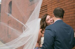Couple's Shot with Veil