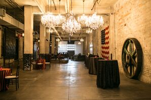 Hanging Chandeliers at Reception Venue