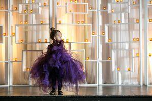 Purple Tulle Flower Girl Dress
