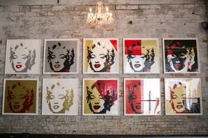 Marilyn Monroe Wall Art with Chandelier