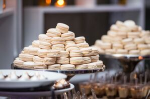 Dessert Table with White Macarons