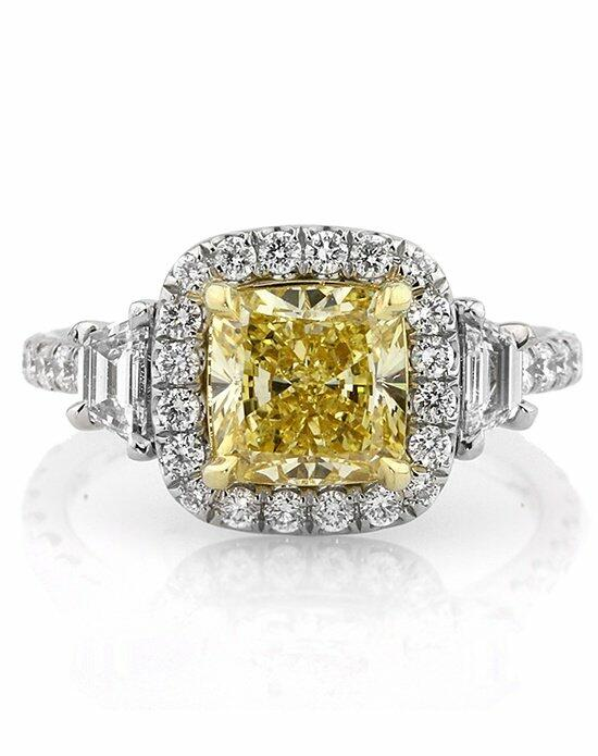 Mark Broumand 3.14ct Fancy Intense Yellow Cushion Cut Diamond Engagement Ring Engagement Ring photo