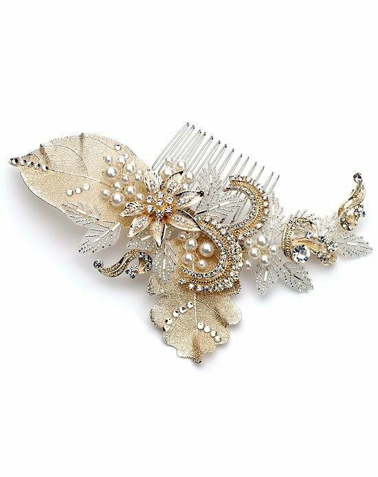 USABride Genevieve Gold Comb TC-2220-G Wedding Pins, Combs + Clips photo