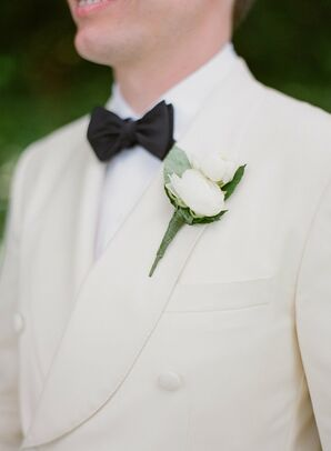 White Tuxedo Groom Style