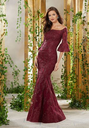MGNY 71930 Blue,Red Mother Of The Bride Dress