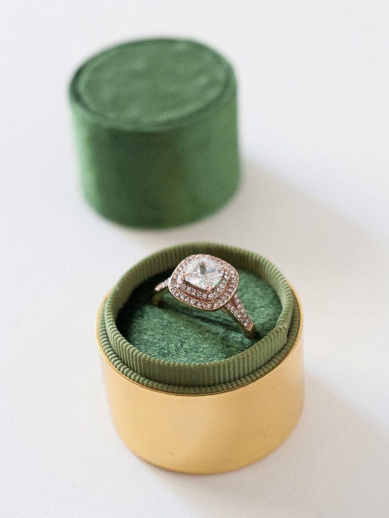 Ring box bridal shower gift idea