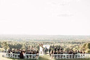 Outdoor Wedding Ceremony at the Fruitlands Museum in Harvard, Massachusetts