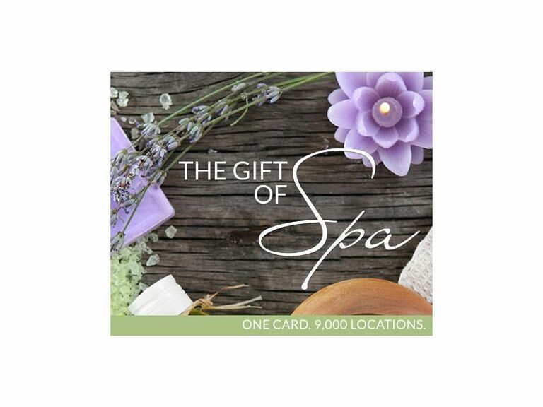 Spa gift card for bridesmaids