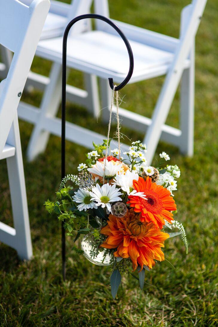 Hanging Floral Aisle Decoration