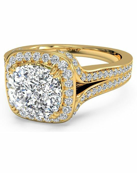 Ritani Cushion Cut Masterwork Cushion Halo Diamond 'V' Band Engagement Ring in 18kt Yellow Gold (0.44 CTW) Engagement Ring photo