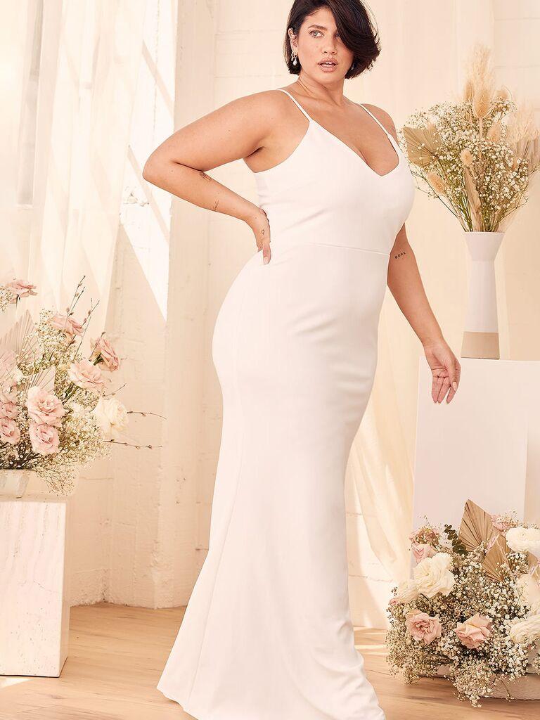 váy cưới váy liền Váy cưới màu trắng