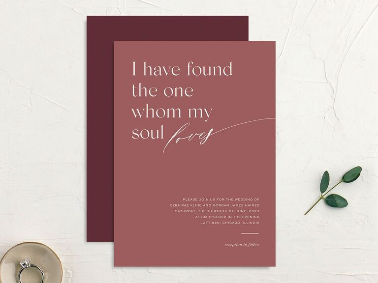 personalized wedding invitations meaningful quote