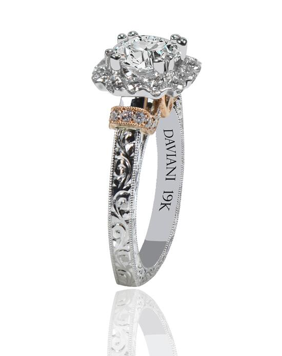 Daviani Love Links Collection DCR1197 Engagement Ring photo