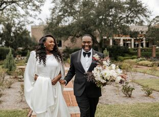 """""""Incorporating my Nigerian culture was incredibly important to us,"""" Tope Leyimu (31 and an attorney) says of her wedding to Eric Stallings (32 and a h"""