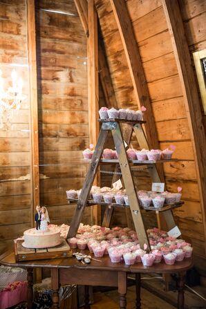 Rustic Wooden Ladder Cupcake Table Display