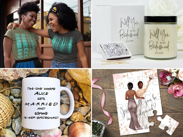 Bridesmaid proposal gift and card ideas