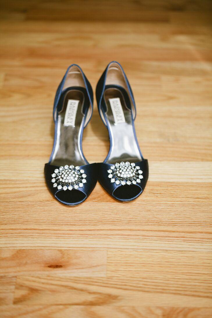Navy Badgley Mischka Bridal Shoes