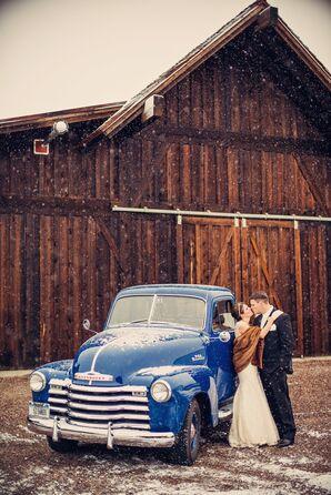 Vintage 1953 Blue Chevy Getaway Car