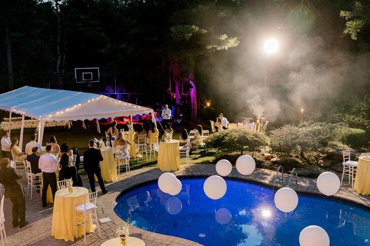 Poolside Reception at Backyard Minimony in New York