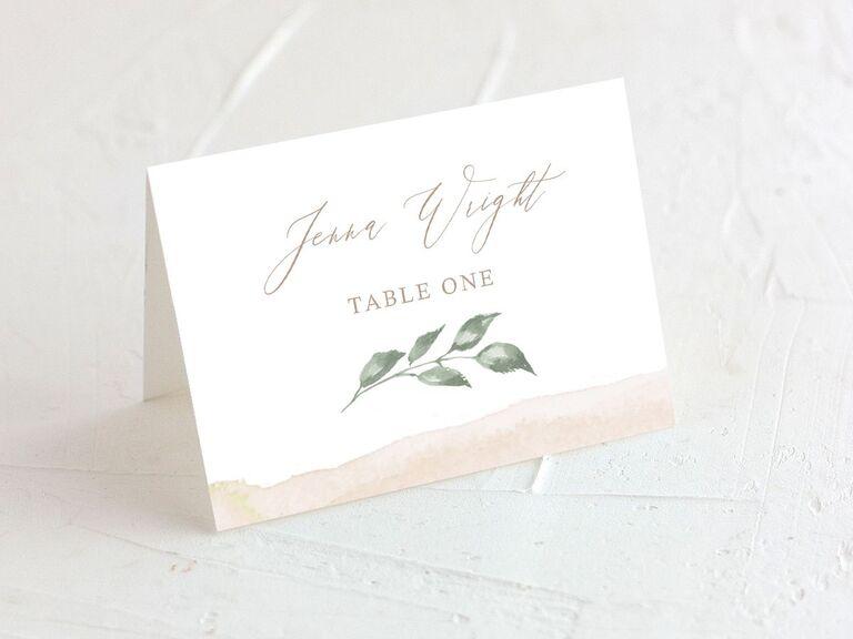 wedding place cards beach theme