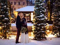 christmas wedding outside