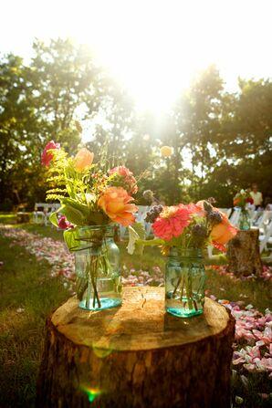 Wildflower Ceremony Decor