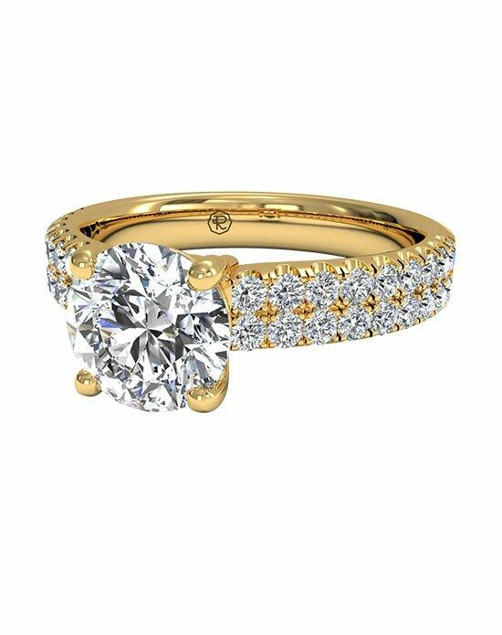 Ritani Double French-Set Diamond Band Engagement Ring in 18kt Yellow Gold (0.59 CTW) Engagement Ring photo