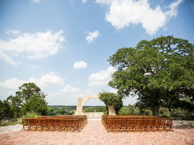 Wedding venue in Dripping Springs, Texas.