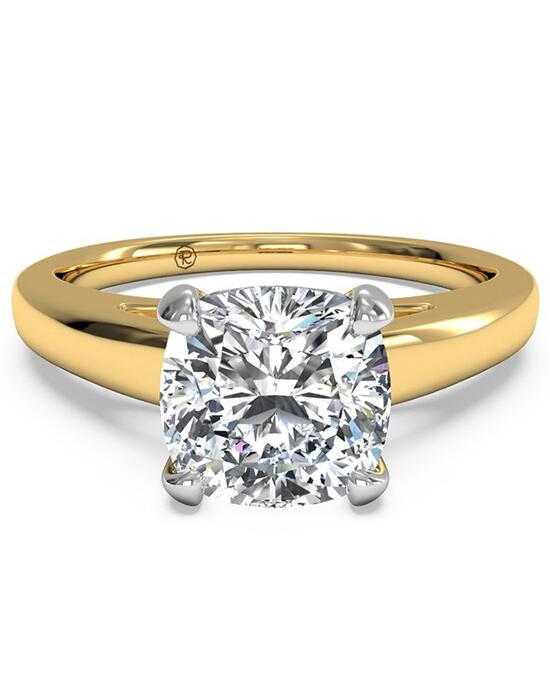 Ritani Solitaire Diamond Cathedral Engagement Ring - in 18kt Yellow Gold for a Cushion Center Stone Engagement Ring photo