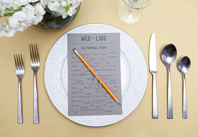 Place Setting Mad Libs