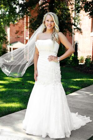 Mermaid-Style Oleg Cassini Wedding Dress