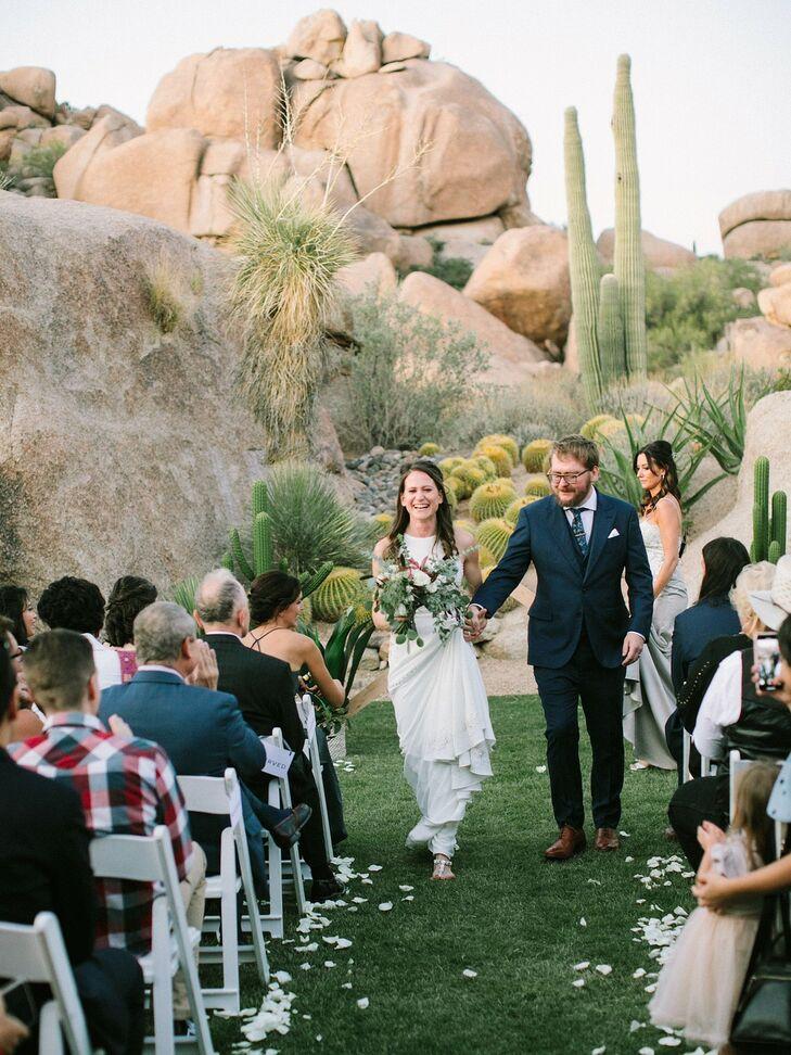 Rustic, Modern Recessional at Boulders Resort & Spa Scottsdale in Arizona