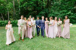 Wedding Party Portraits at Chesterwood Estate in Stockbridge, Massachusetts
