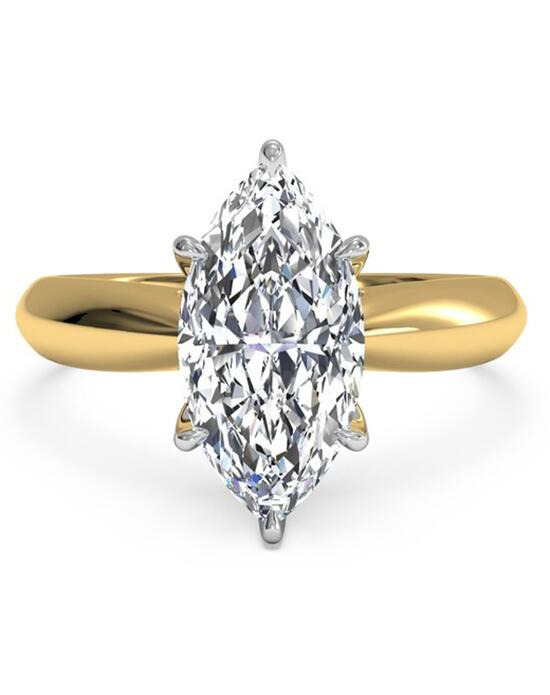 Ritani Solitaire Diamond Tapered Engagement Ring with Surprise Diamonds - in 18kt Yellow Gold (0.04 CTW) for a Marquise Center Stone Engagement Ring photo
