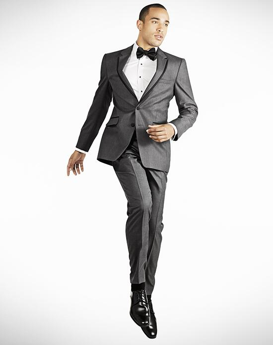 Generation Tux Notch Lapel Slim Fit Charcoal Gray Tux Wedding Tuxedos + Suit photo