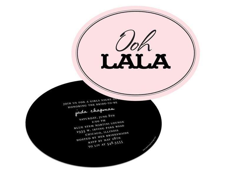 lingerie bachelorette party invitations