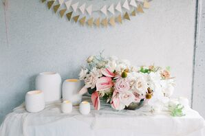 Blush-and-Neutral Tabletop Decor